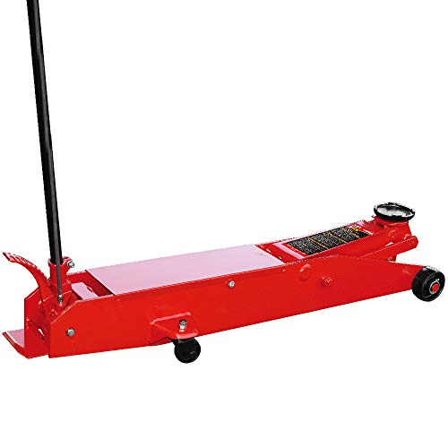 BIG RED T80501 Torin Hydraulic Heavy Duty Long Frame Service/Floor Jack with Foot Pedal, 5 Ton (10,000 lb) Capacity