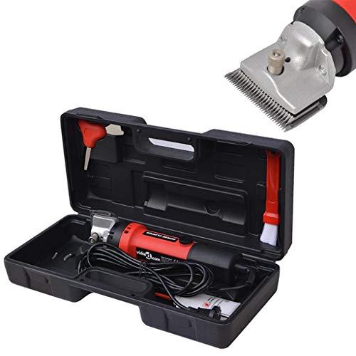 vidaXL Set de Maquinilla Cortapelos para Caballos 6 Piezas Aseo Recortador de Pelo Pelaje Ruido Vibración Mínimos Cortaúñas Accesorios Práctico 550 W