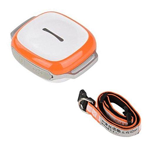 Hrph Mini perseguidor del GPS con el collar impermeable localizador en tiempo real localizador de la viruta para los perros de los animales domésticos gatos