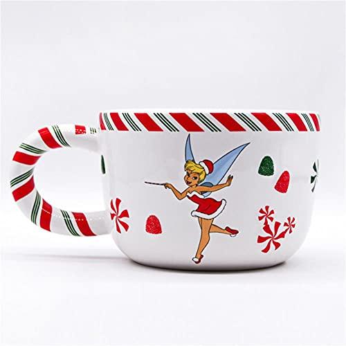 Copa de vino Taza de café Taza Taza De Dibujos Animados Navidad Mickey Mouse Linda Taza De Agua Mickey Minnie Juego De Tazas De Café Taza De Colección De Regalos De Vacaciones