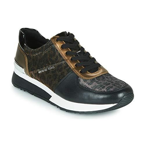 MICHAEL Michael Kors Allie Sneakers Dames Zwart/Panter/Brons - 37 - Lage Sneakers Shoes