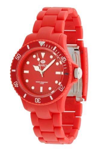Marea B40107/7 - Reloj Unisex de Cuarzo, Correa de Caucho Color Rojo