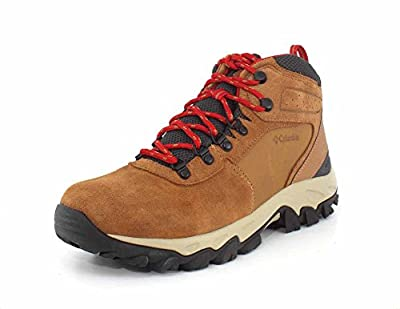Columbia Men's Newton Ridge Plus II Suede Waterproof Boot - Wide,, elk, Mountain red, 10 US