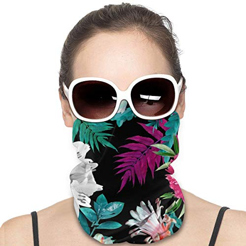 JinSPef Bandana Face Mask - Best Floral Tulip Pattern Motorcycle Mask Neck Gaiter Neck Gaiter Head Bands Sport Mask Headscarf Neck Warmer for Men
