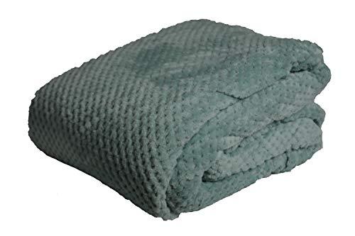 Waffle Honeycomb Blanket/Throw (King 200 x 240, Duck Egg)