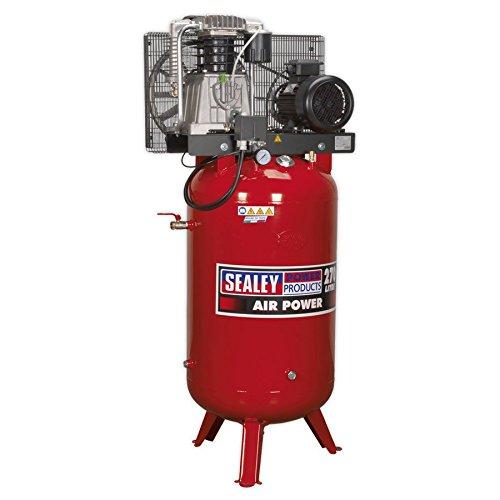 SEALEY sacv52775b 270 liter 7,5 HP 3 Ph 2-traps compressor verticale riem drive met gietijzeren cilinder