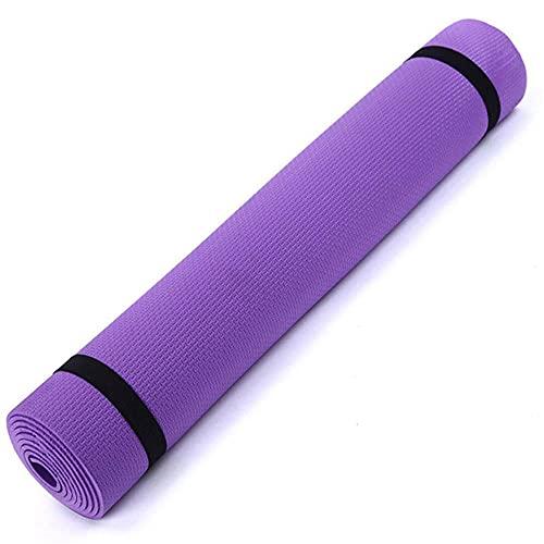 Fitness de deportes antideslizante Fitness Mat de yoga 3mm-6mm de espesor Eva Comfort Foam Yoga Mat para el ejercicio yoga y pilates-púrpura_5mm
