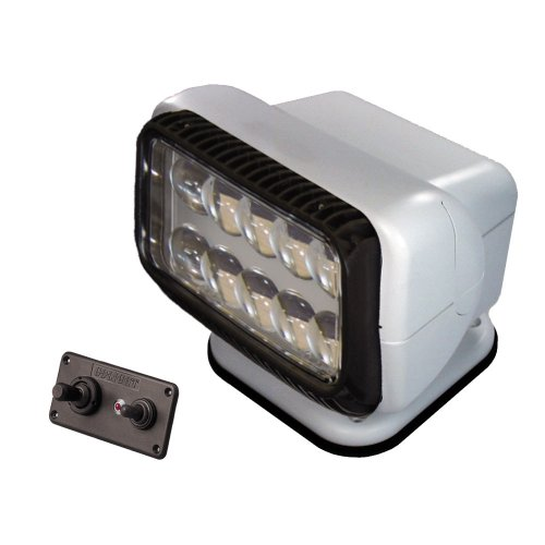 GoLight LED Permanent Mount t Searchlight with Dash Mounted Remote, White review