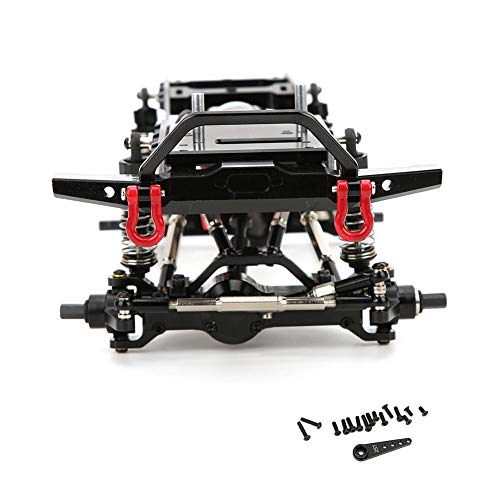 T best RC Car Frame, Quality Metal 1:16 Scale Remoted Control Car Chassis Frame RC Car Body Body Upgrade Part Kit Accessory for WPL C14 C24(Titanium)