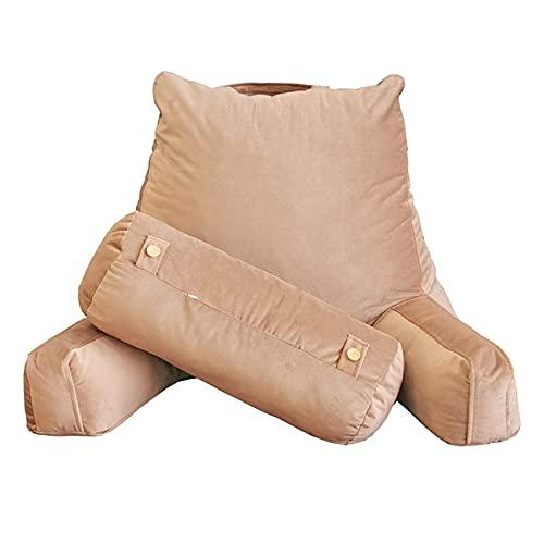 Lettura cuscino morbido supporto posteriore cuscino cuscino a cuneo cuneo tagliuzzato cuscino dello schienale con supporto bracci cuscino del collo per gravidanza bambini mal di schiena antidotto slee