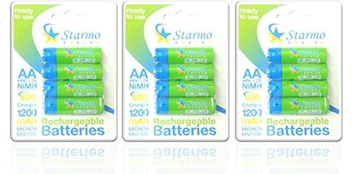 Starmo MN1500AA 1200mAh HR6/1.2V batterie ricaricabili NiMh ready to use varie quantità