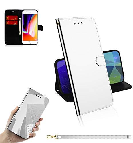 Snow Color Cover iPhone 6S Plus 6 Plus Portafoglio, Flip Custodia Portafoglio in PU,[Funzione Staffa]con Slot per Schede e Chiusura Magnetica per Apple iPhone 6SPlus 6Plus - COTX030009 Argento
