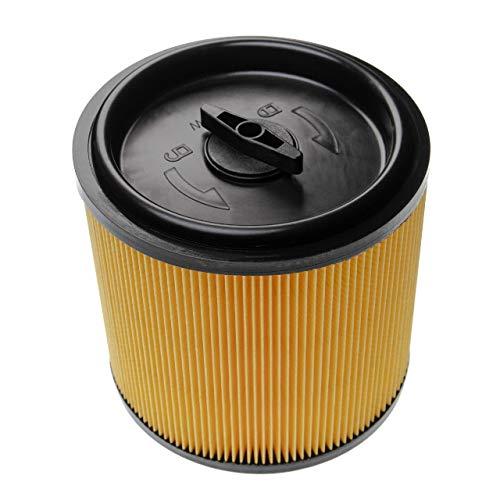 vhbw Filtro compatible con Lidl/Parkside PNTS 1250 F5, 1300 A1, 1300 B2, 1300 C3 aspiradora filtro plisado con tapón de cierre