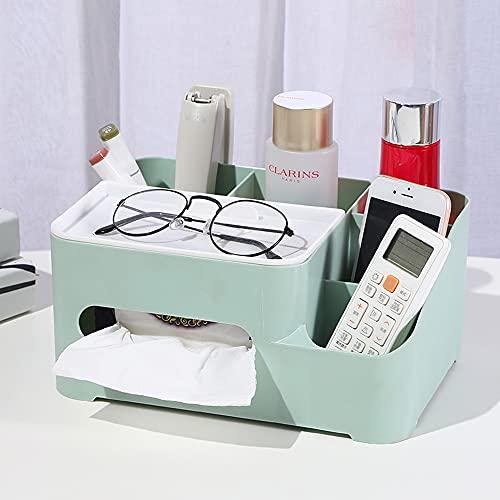 DDS-DUDES Portarrollos de papel de bambú con almacenamiento, organizador para dormitorio y escritorio (verde)