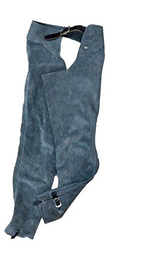 Equi-Deluxe Reitchaps, Westernchaps, Wildlederchaps, aus modischem doch robustem Leder mit Gürtelschnalle (80-84)