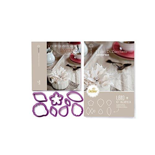 Decora 0803041 Libro Inverno con Kit 8 Tagliapasta, Plastica, Viola
