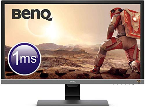 "BenQ EL2870U - Monitor Gaming de 28"" 4K UHD (3840x2160, 16:9, 1ms, HDR, HDMI 2.0x2, DisplayPort 1.4, Free-Sync, Eye-Care, Sensor Brillo Inteligente Plus, Flicker-free, Altavoces), Gris Metálico"