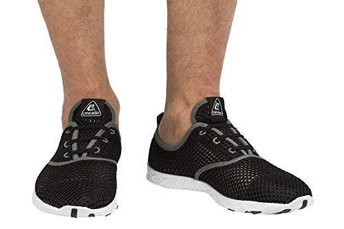 Cressi Aqua Shoes Unisex Zapatos Modernos para Deportes acuáticos, Unisex, Zapatillas de Agua Unisex para Deportes acuáticos, natación, Piscina, Paseo en la Playa, XVB972241, Negro y Gris, 41