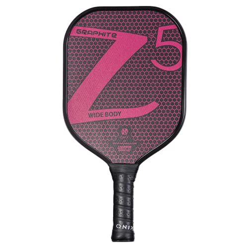 ONIX Graphite Z5 Pickleball Paddle (Graphite Carbon Fiber Face with Rough Texture Surface, Cushion Comfort Grip and Nomex Honeycomb Core for Touch, Control, and Power), Pink