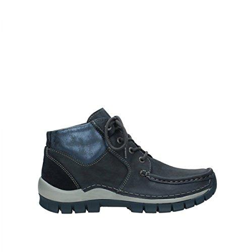 Wolky Damen Stiefeletten S.Cross Up Boot Blue ant. Nu 0473519 blau 536316