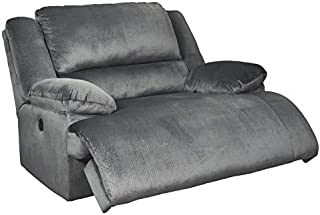 Signature Design by Ashley Clonmel Zero Wall Power Wide Recliner Charcoal
