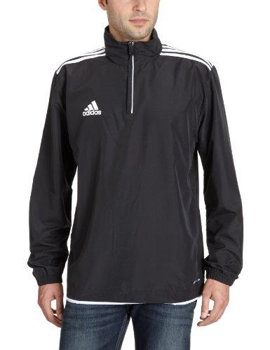 Adidas Core 11 - Cortavientos de deporte para hombre, tamaño 48, color negro / blanco