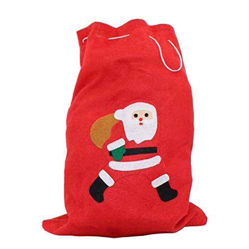 LIXHZJ Bolsa de Navidad Santa Sack Bolsa de almacenamiento de regalo con cordn de tamao medio, al azar/199 (tamao M: