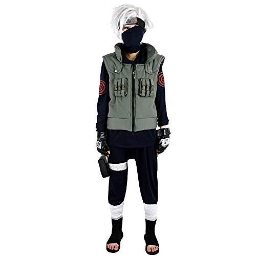 Naruto Cosplay Zubehör Kakashi Hatake 3-teiliges Set Anzug Military Style Outfit -  Grün -  Small