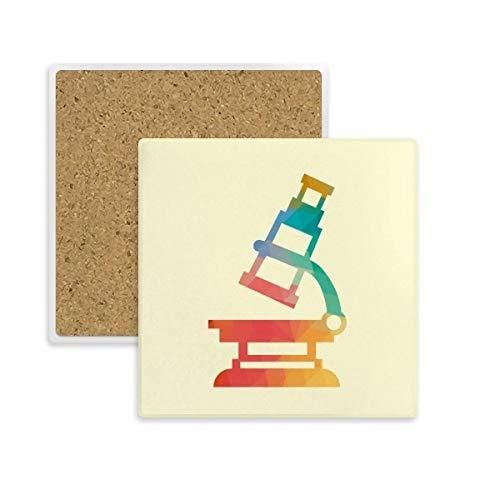 DIYthinker microscopio de Dibujos Animados patrón de química Coaster Plaza Taza del sostenedor de Taza de Piedra Absorbente para Regalo Bebidas 2pcs