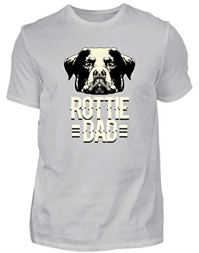 Rottie BAB - Rottweiler Head - Herren Shirt -S-Pazifik Grau