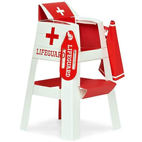 BirthdayExpress Summer Beach Ball Pool Party Supplies - Lifeguard Chair Placecard Holder Tabletop Decorations (8)