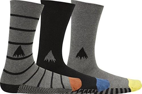 Burton MB Casual de 3 Paires de Chaussettes L Multicolore - Multi Grey