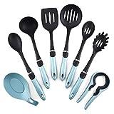 Juego de utensilios de cocina Conjunto de utensilios de cocción de silicona, 8pcs herramienta de cocción for hornear utensilios de cocina utensilios de cocina, gadgets de cocina resistente al calor an