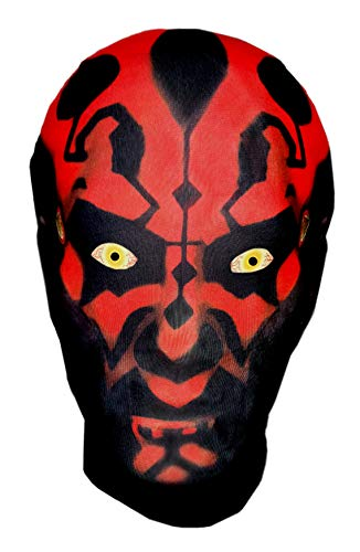 Darth Maul Style, Star Wars Parodia – Máscara de cabeza completa – Disfraz de Halloween Cosplay