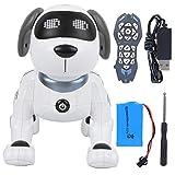 Zerodis Control Remoto RC Animales Perro Robot Programación electrónica Inteligente Cachorro Mascota Juguete para niños Niños y Adultos