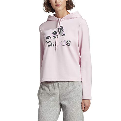 adidas,Womens,Camo Hoodie,Pink,X-Large