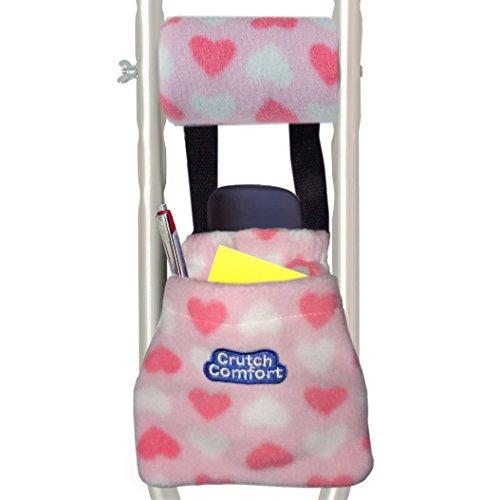 Universal 2-Pocket Crutch Pouch Bag Pocket (Pink)