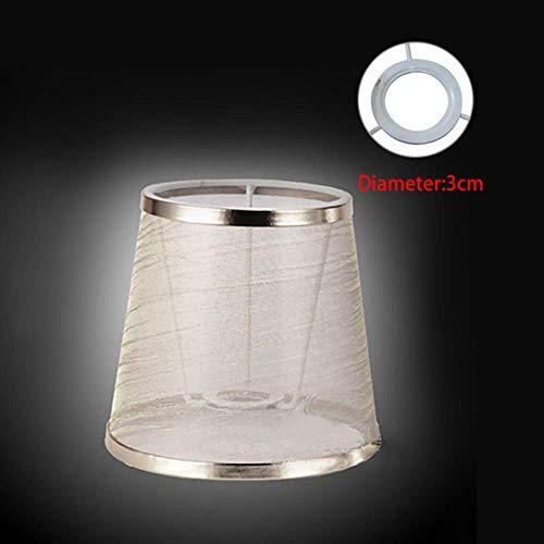 FICI Fashion Art Decor Lampenkappen Doek Lampenkap Lichtkap Gaas Lampenkap Hanglamp Inbouwdecoratie, goud