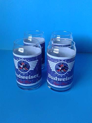 Zachrtroo Vintage Barware Budweiser Bier kan glazen pot 4 16 oz Libbey Man Cave