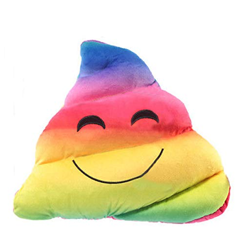Laeto Home Furnishings | Emoji Poop Pillow | Kids Cushion Poo | Rainbow Gifts | Taking after the emoticon craze this pillow or cushion is suitable for either girls or boys.