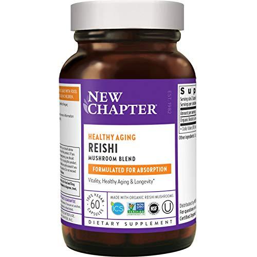 New Chapter Reishi Mushroom - LifeShield Reishi for Healthy Aging with + Organic Reishi Mushroom + Vegan + Non-GMO Ingredients - 60 ct