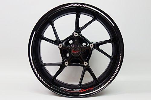 Jante randauf Colle 710006 Rim Stripes – Racing Flag Black White – Kit complet – Pour 16 \