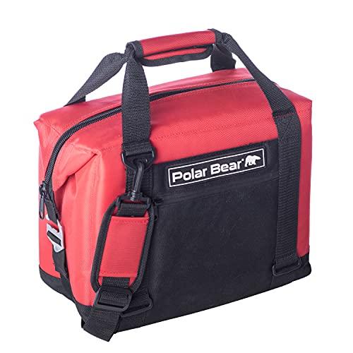 Polar Bear Coolers 12 Pack Original Soft Cooler Red