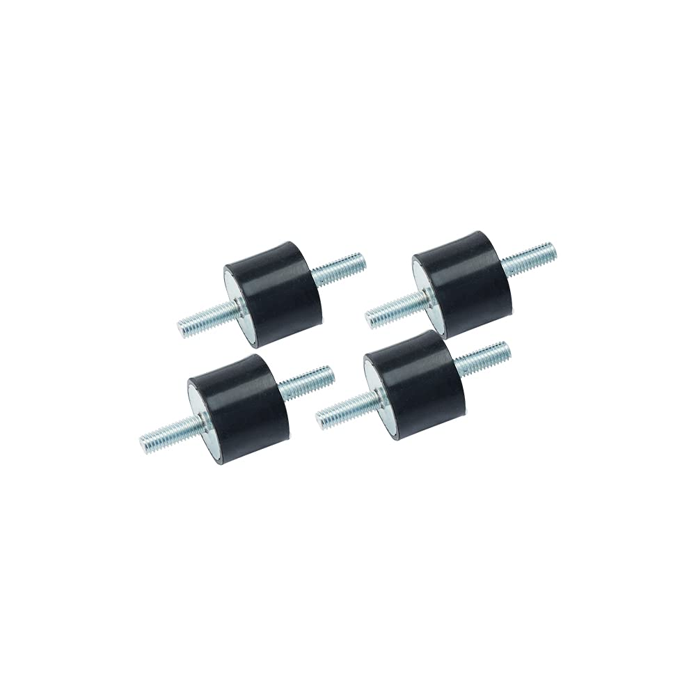 Rubber 8x8mm Anti-Vibration Rubber Isolator Feet with Thread M3