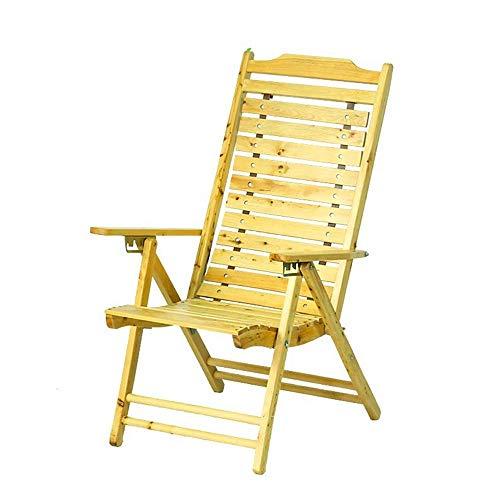 YLCJ • Houten ligstoel met balkon op het strand en opklapbare tuin