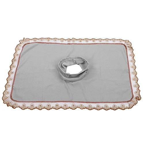 Cabeza de mesa de masaje 50 * 80, cepillos para el cuidado de pieles y pezuñas, hoja de cubierta con orificio, toalla de cabeza de cama de spa de belleza, colchón de masaje, cara acostada [gris]