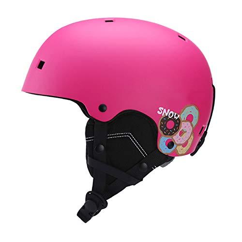 Skihelm, Snowboardhelm Schneesporthelm Männer Frauen Jugend Jugend Verstellbare Fahrradhelme Jungen Und Mädchen Radfahren Skater,Rosa