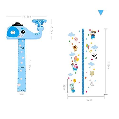 OIYINM77 Creative 3D Kinderwachstumstabelle Höhenmessung Aufkleber Raumdekoration Wandtattoos & Wandbilder