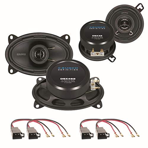 Crunch DSX32 und DSX462 2 Wege Koaxial Lautsprechersysteme Armaturenbrett seitliche Heckablage für Polo 86C Golf 2