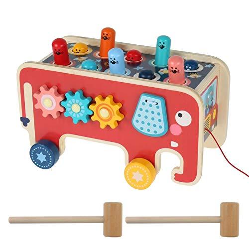 Zzlush Educational Spielzeug Kinder Lernen Bunte hölzerne Whack-A-Mole-Spiel-Baby-Mädchen-Junge Spielzeug Hand klopfen Hamster Frühe pädagogische Cartoon Hand-Auge-Koordination Spielzeug